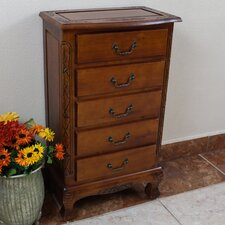 Windsor Hand Carved Jewelry Chest