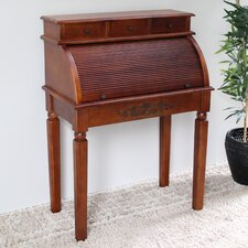 Windsor Hand Carved Roll Top Desk