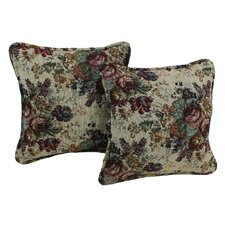 Floral Tapestry Throw Pillow (Set of 2)