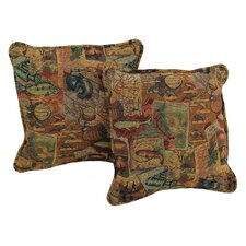 Western Tapestry Throw Pillow (Set of 2)