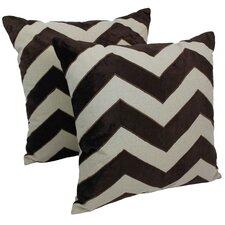 Indian Chevron Cotton Throw Pillow (Set of 2)