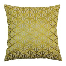 Indian Diamond Mosaic Hand-embroidered Cotton Throw Pillow