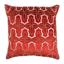 Moroccan Patterned Cotton Throw Pillow