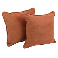 Microsuede Throw Pillow (Set of 2)