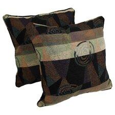 Jacquard Indoor Chenille Floor Pillow (Set of 2)