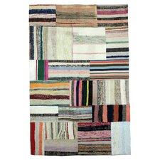 Handgewebter Teppich Vintage in Bunt