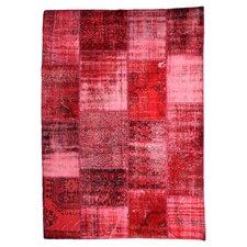 Handgewebter Teppich Vintage in Rot