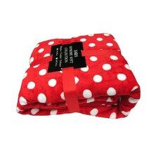 Polka Dot Printed Fleece Blanket
