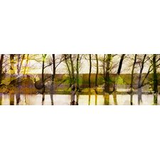 Leinwandbild Marmont Hill Lake Trees, Kunstdruck