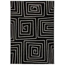 Teppich Linio in Schwarz