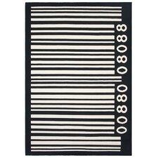 Teppich Barcod in Schwarz/Weiß