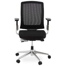 Bürostuhl Tepper aus Netz mit mittelhoher Rückenlehne und Armlehnen