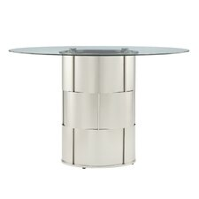 Emanuella Drum Glass Dining Table