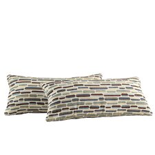 Ariana Tonal Oval Kidney Lumbar Pillow (Set of 2)