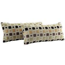 Ariana Octagonal Tile Kidney Lumbar Pillow (Set of 2)