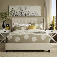 Mackenna Upholstered Wingback Bed