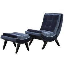 Charlotte Chair and Ottoman Set