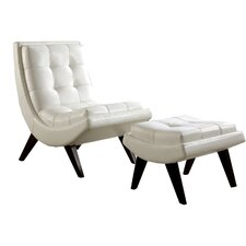 Charlotte Lounge Chair & Ottoman Set