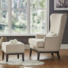 Matteo Arm Chair and Ottoman