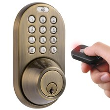 Single Cylinder Keyless Electronic Deadbolt with Remote