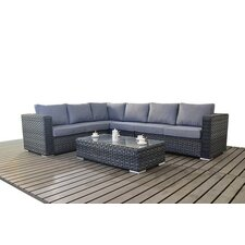 6 Seater Sectional Sofa Set with Cushions