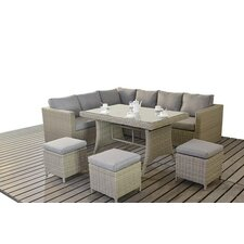 8 Seater Sectional Sofa Set with Cushions