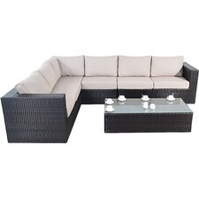 Luxe 6 Seater Sectional Sofa Set with Cushions