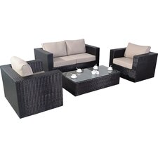Luxe 4 Seater Sofa Set with Cushions