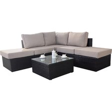 Luxe 4 Seater Sectional Sofa Set with Cushions