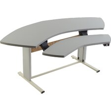 """Infinity Adjustable Command Center 72"""" W x 33"""" D Training Table"""