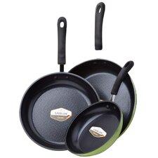 3 Piece Green Earth Frying Pan Set