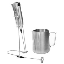 Deluxe Milk Frother and Frothing Pitcher