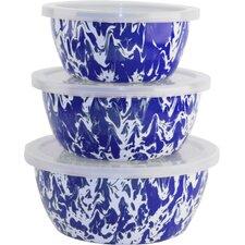 3 Piece Swirl Nesting Bowl Set