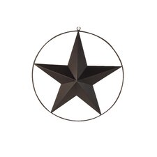 Tin Star Wall Décor with Wired Ring