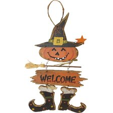 Witch Hanging Welcome Sign