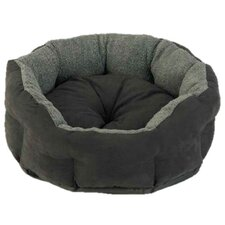 Verona Snuggle Pet Bed II in Charcoal and Black
