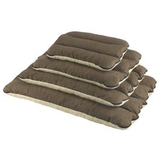 Memory Foam Ribbed Cushion in Brown and Cream