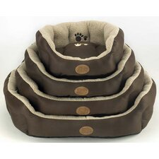Pisa Snuggle Bed in Brown and Cream