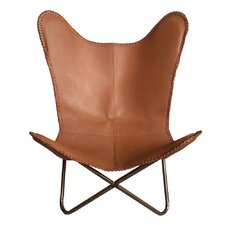 Leather Butterfly Side Chair