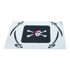 Kinderteppich Pirat in Weiß