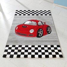 Kinderteppich Auto in Grau