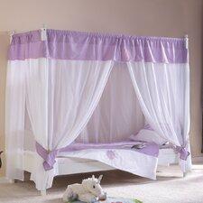 """Himmelbett """"Stella"""" in Weiß / Lila mit Vorhang"""