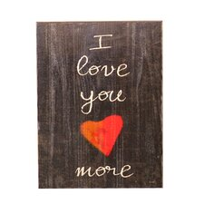 "Swoon ""I Love You More"" Textual Art Plaque"