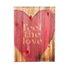 "Swoon ""Feel The Love"" Textual Art Plaque"
