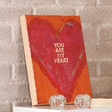 "Swoon ""You Are My Heart"" Framed Textual Art Plaque"
