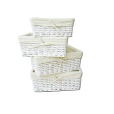 4 Piece Wicker Basket Set