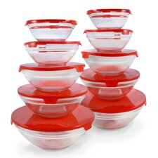 10 Piece Glass Bowl Set