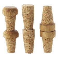 4 Piece Replacement Cork Bottle Stopper Set