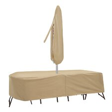 Oval/Rectangular Dining Set Cover with Umbrella Hole