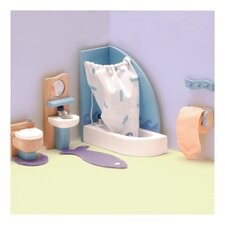 Peppermint Powder Dollhouse Bathroom Set